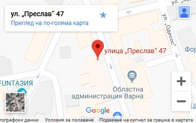 снимка на карта с адреса на сексмагазин във варна