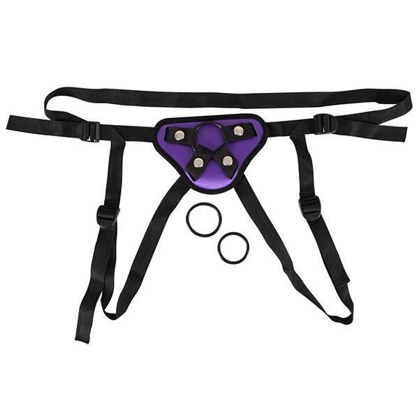 Универсален пенис колан с 3 ринга Purple мнения и цена с намаление от sex shop