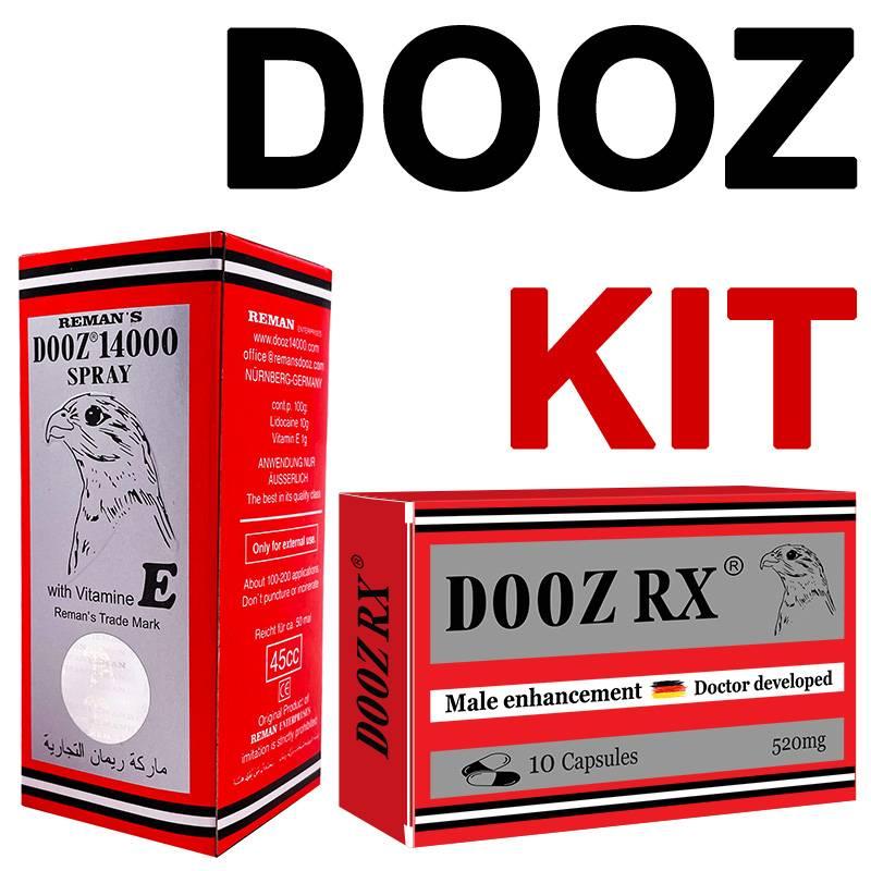 DOOZ KIT - DOOZ 14000 спрей за задържане + DOOZ Rx 10 капсули за ерекция мнения и цена с намаление от sex shop