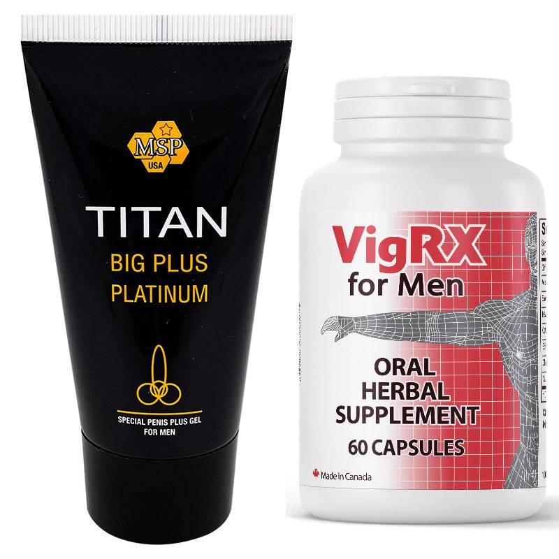 VigRX Pills за Уголемяване и Ерекция 60 капсули + Титан гел за уголемяване на пениса мнения и цена с намаление от sex shop