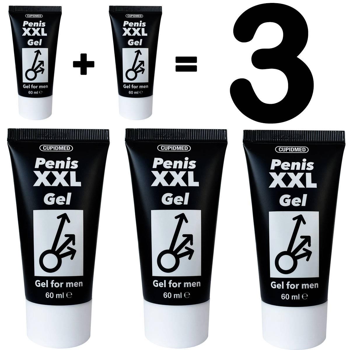 1+1=3 Гел за уголемяване на пениса Penis XXL Gel 2 + 1 ПОДАРЪК мнения и цена с намаление от sex shop