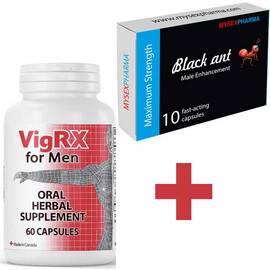 Черна Мравка BLACK ANT 10бр. капсули за ерекция + VigRX 60 капсули за уголемяване на пениса и ерекция мнения и цена с намаление от sex shop
