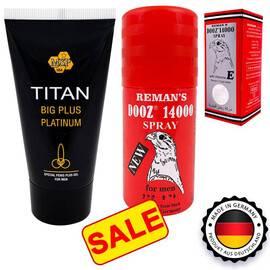 DOOZ 14000 спрей за задържане + Titan gel за уголемяване на пениса мнения и цена с намаление от sex shop