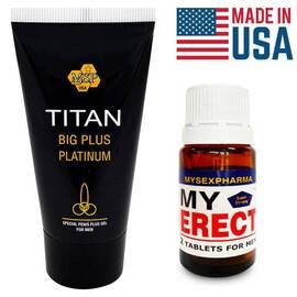 Промо Пакет Titan Gel за уголемяване + MyErect таблетки за ерекция мнения и цена с намаление от sex shop