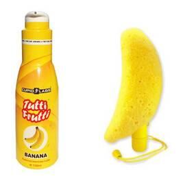 Вибратор в гъба за баня Banana Bath + лубрикант с аромат на банан мнения и цена с намаление от sex shop