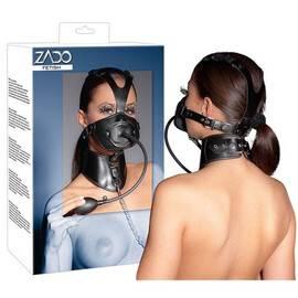 Кожена маска и пристегач за врата Zado мнения и цена с намаление от sex shop